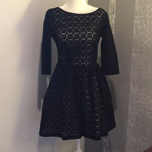 Lily Pulitzer Black lace dress. Size 4